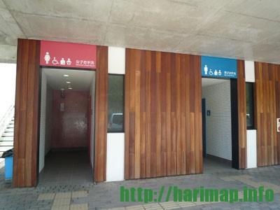 道の駅みつの多目的トイレ