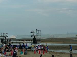フェスティバルの舞台。