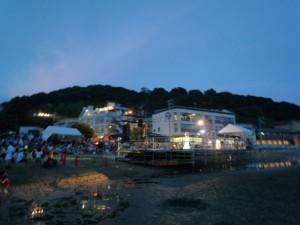 フェスティバルの舞台海側