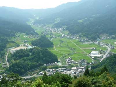 波賀城史跡公園からの景色