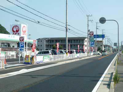 県道5号線 こっちに行くと日飼、堂本方面
