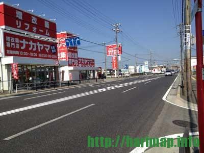 BOOKOFF 姫路網干店跡にリフォームのナカヤマ 姫路支店が拡張されている【姫路市網干区北新在家】
