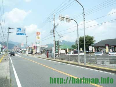 道の駅山崎鹿の蔵波賀町方面